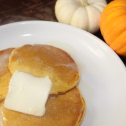 Pumpkin Pancakes With Homemade Syrup