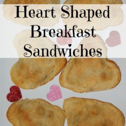 Heart Shaped Breakfast Sandwiches