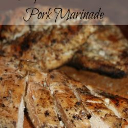 Friday at the Fire Station ~ Simple Chicken and Pork Marinade