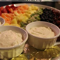 St. Patrick's Day Rainbow Fruit Tray With Fruit Dip