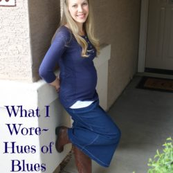 What I Wore ~ Hues of Blues