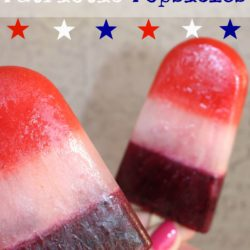 Homemade Patriotic Popsicles