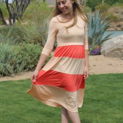 What I Wore ~ Color Block Dress