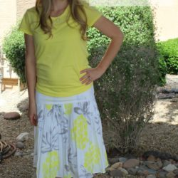 What I Wore~Yellow and Gray