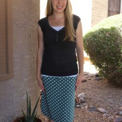 What I Wore ~ Knit Polka Dot Skirt