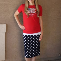 What I Wore ~ Red, White, and Blue!!