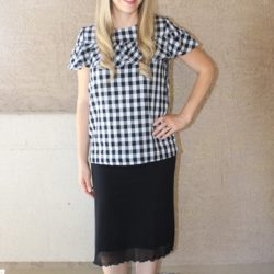 What I Wore ~ Black and White Gingham